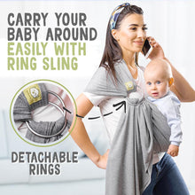 Load image into Gallery viewer, KeaBabies Ring Sling-Classic Gray