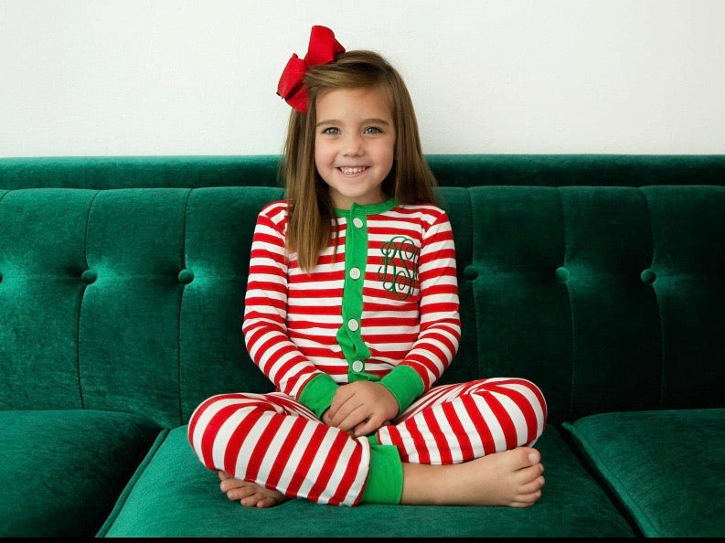 Love That Cotton 2020 Unisex Faux Butt Flap Christmas Jammies (Miller Collection)