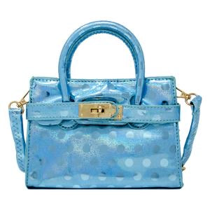 SHINY POLKA DOT STRAP BUCKLE MINI BAG
