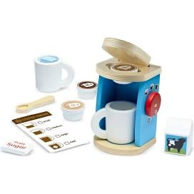 Melissa and Doug  years Wooden Brew & Serve Coffee Set