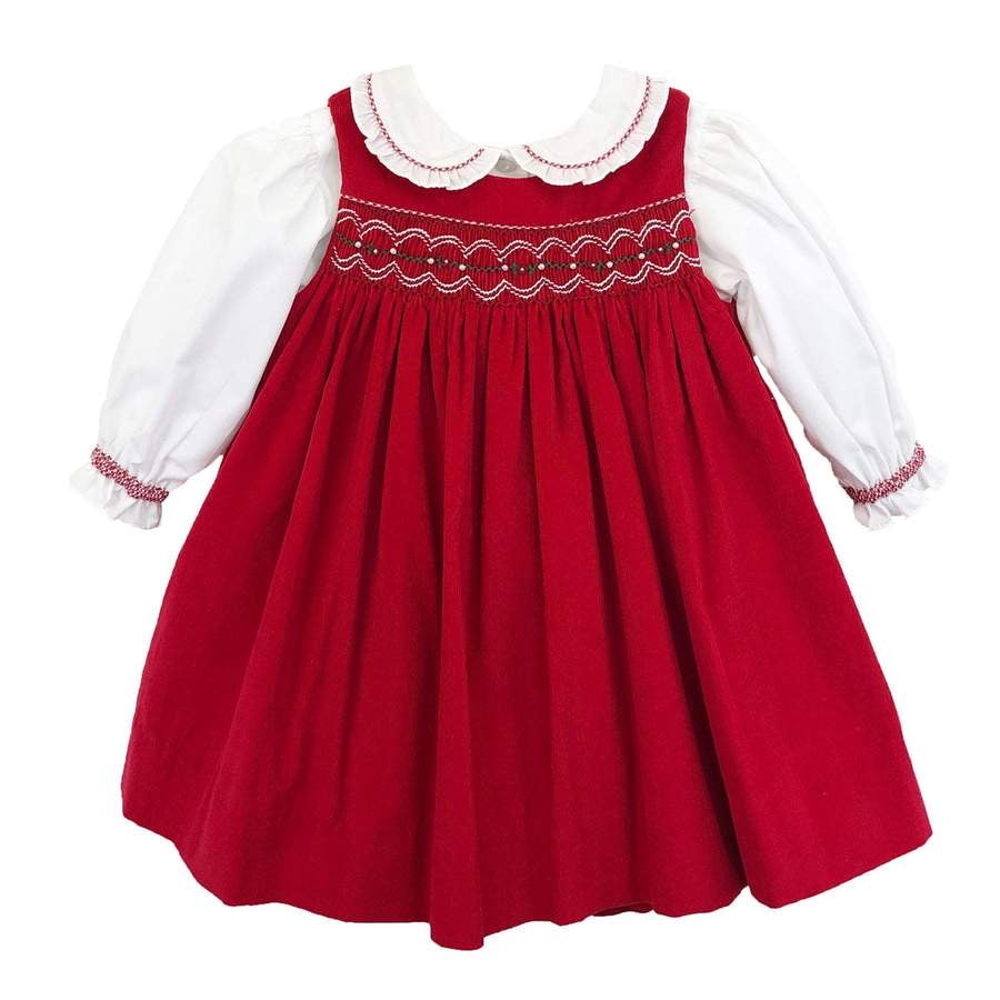 Petit Ami Jumper Dress with Smocking-3T