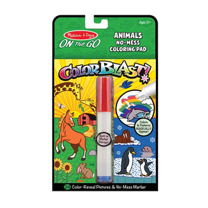 Melissa and Doug  years On the Go ColorBlast No-Mess Coloring Pad - Animals