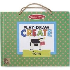 Melissa and Doug Natural Play: Play, Draw, Create Reusable Drawing & Magnet Kit - Farm