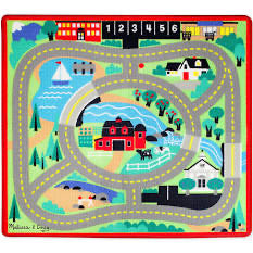 Melissa and Doug Round the Town Road Rug & Car Set