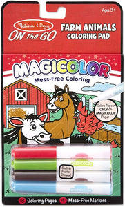 Melissa and Doug Magicolor - On the Go - Farm Animals Coloring Pad