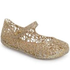 Mini Melissa Mini Campana Zigzag VI Mary Jane Flat-Gold