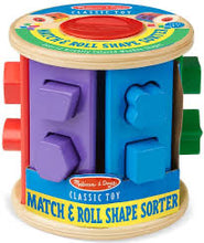 Load image into Gallery viewer, Melissa and Doug Match & Roll Shape Sorter