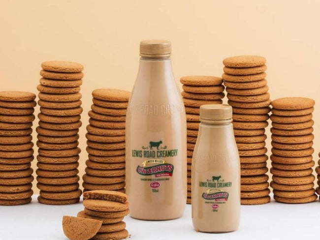 Lewis Road release Gingernuts-flavoured milk in collaboration with Griffins | Lewis Road Creamery