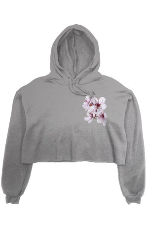 Flower Power Fleece Crop Hoodie
