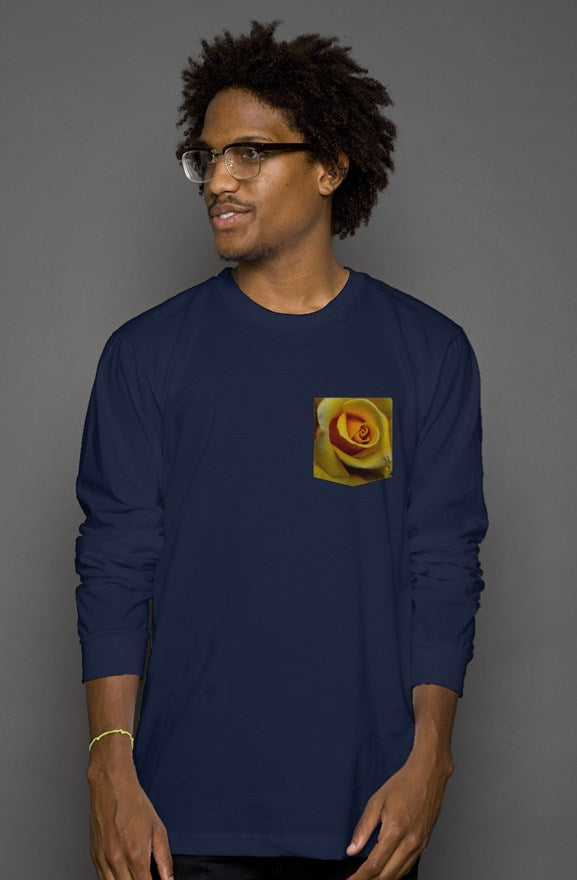Golden Long Sleeve Pocket Tee