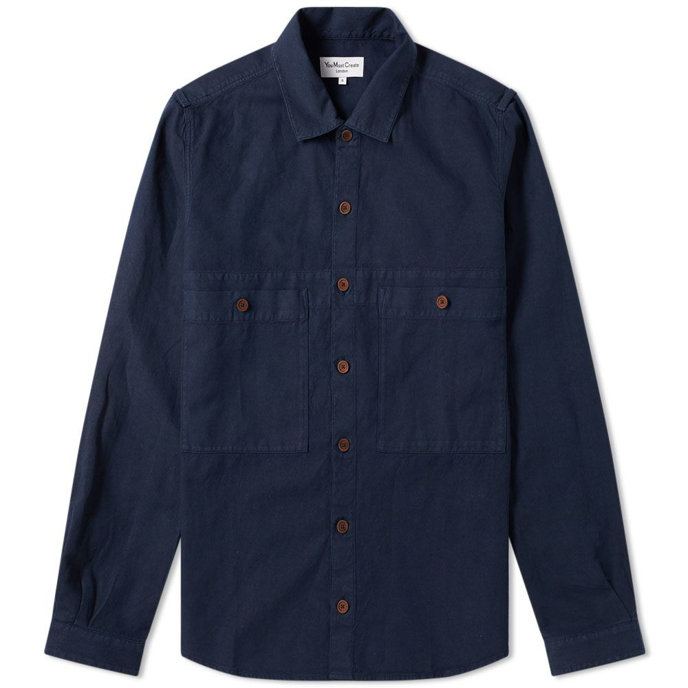Ymc Doc Savage Shirt Navy