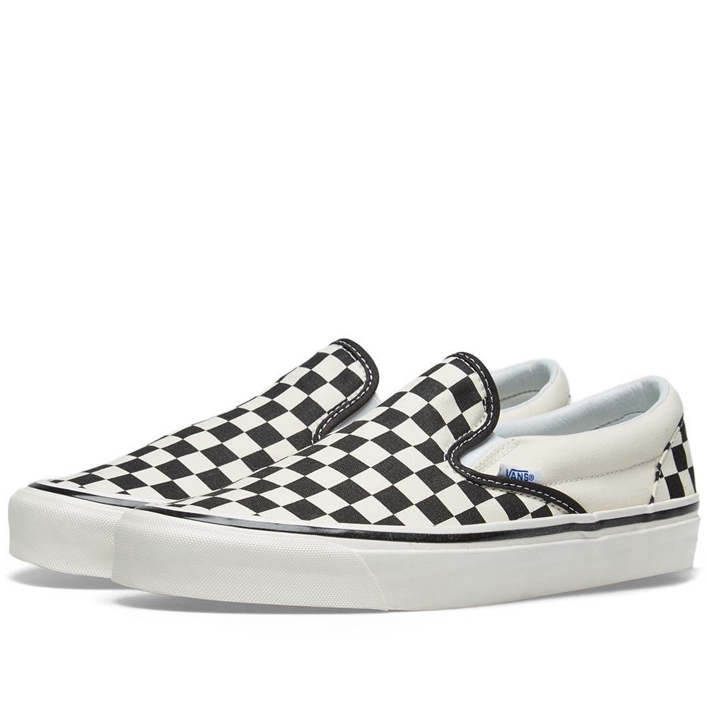 Vans Classic Slip On 98DX Shoes Ana Checkerboard Blk/ White