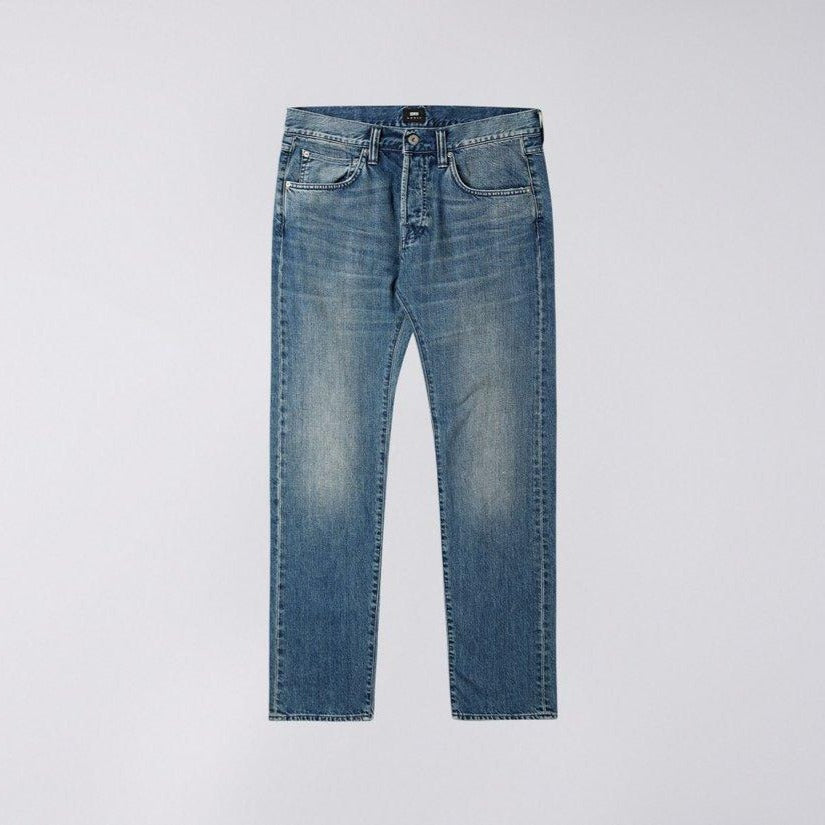 Edwin Ed55 Kingston Blue Denim Jeans Sandpiper Clean Wash