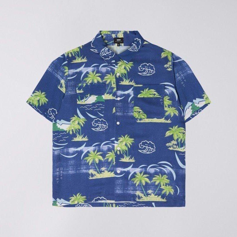 Edwin Garage Shirt Blue Island