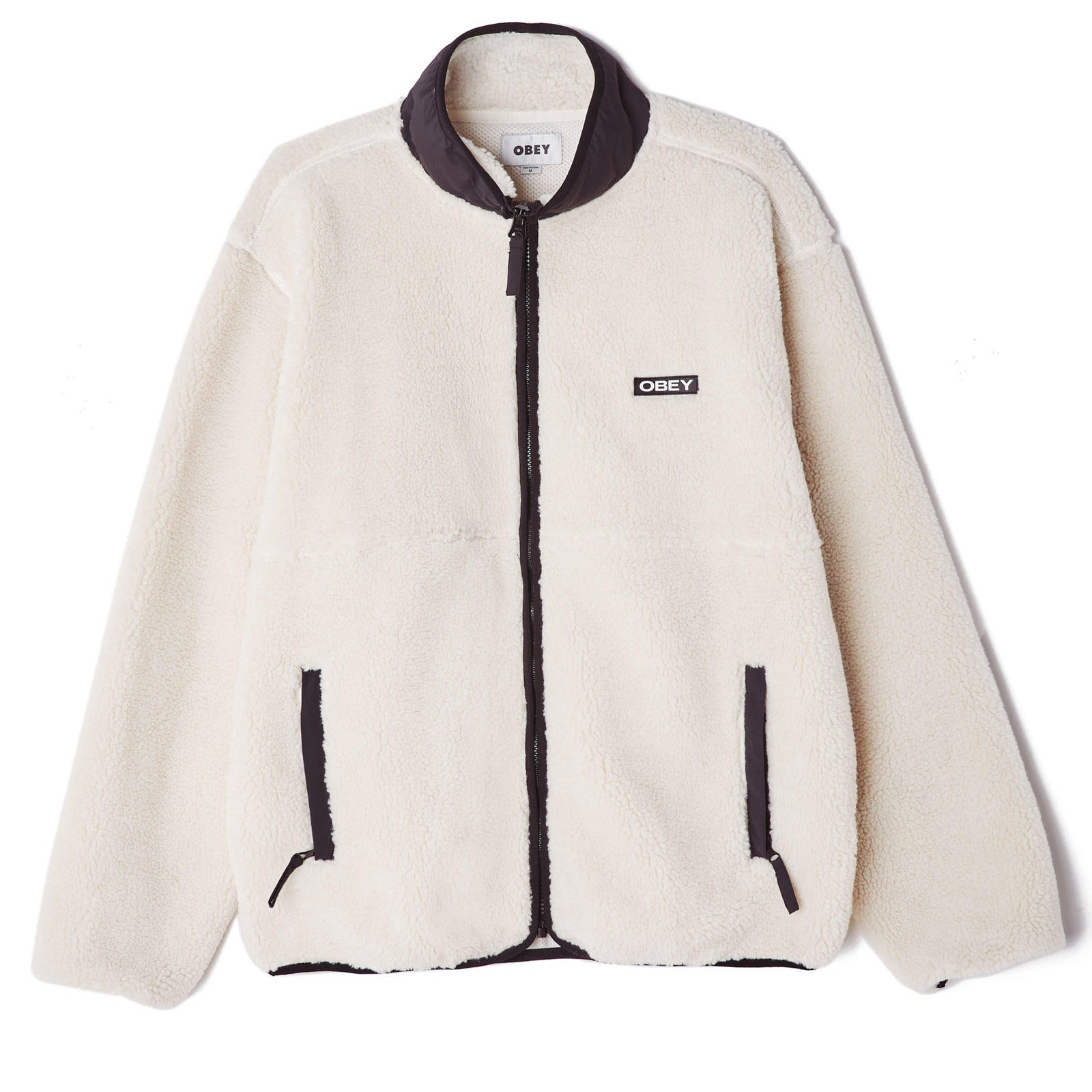 Obey Thief Sherpa Jacket Natural