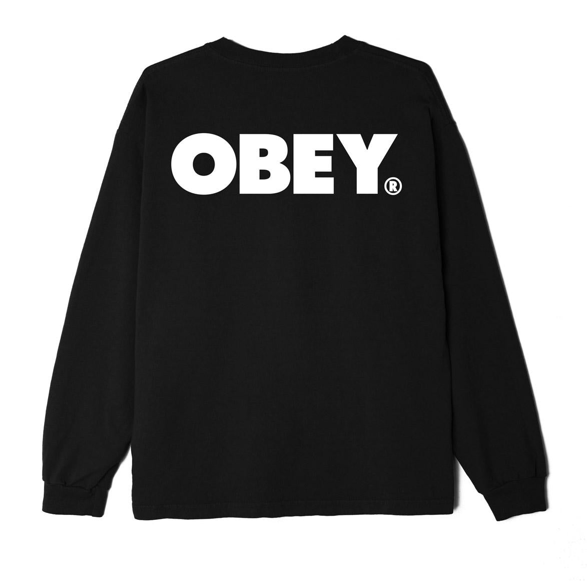 Obey Bold LS T-Shirt Off Black