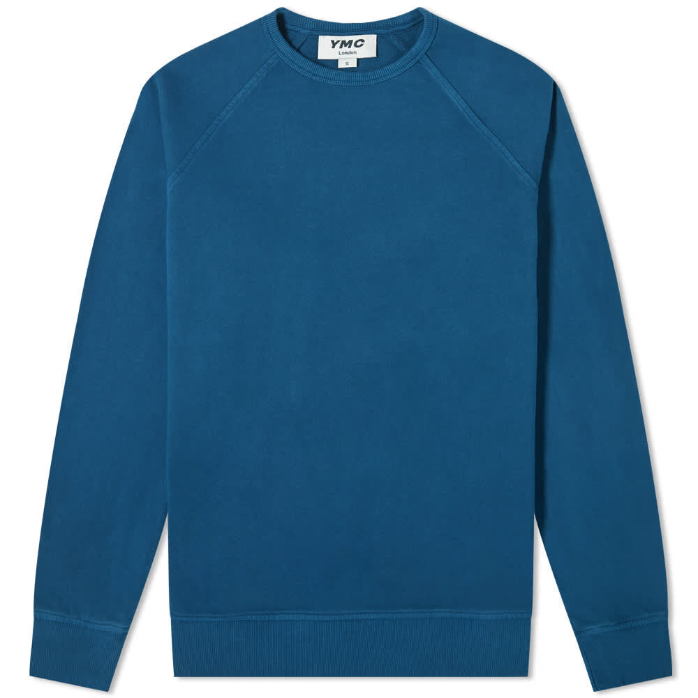 Ymc Schrank Raglan Sweat Blue