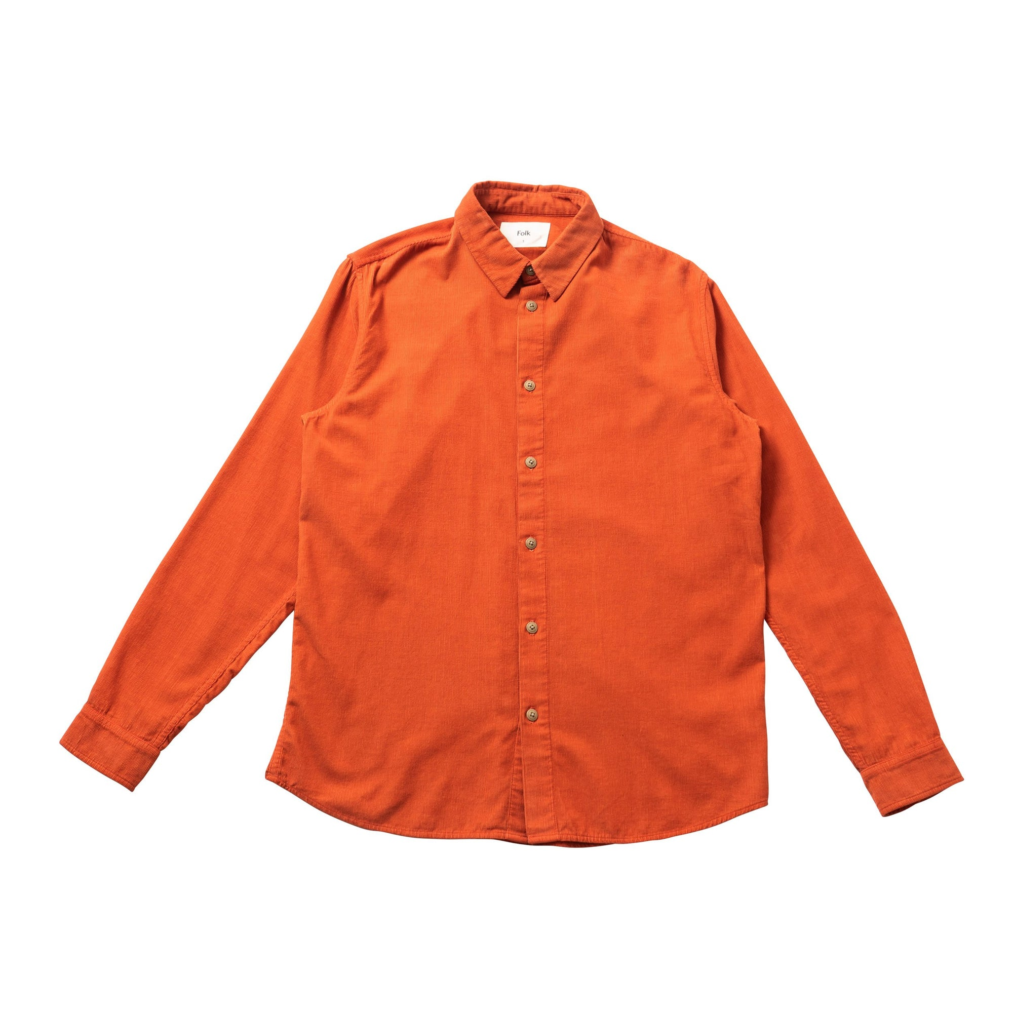 Folk Babycord Shirt Brick Red