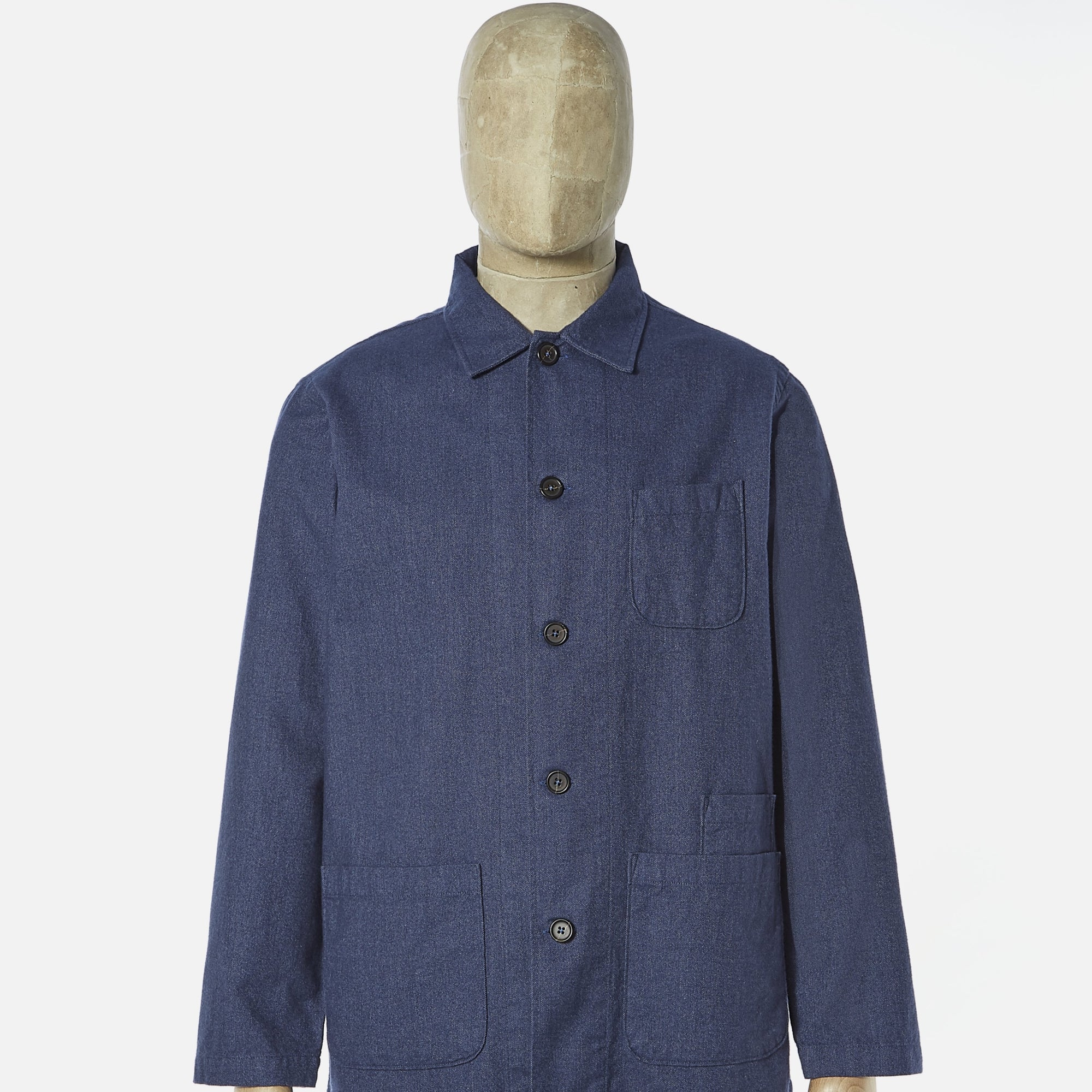Universal Works Bakers Overshirt Blue