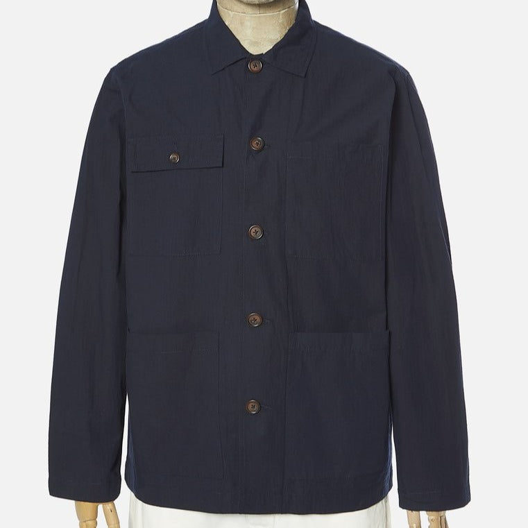 Universal Works Dockside Overshirt - Cotton Ripstop Navy