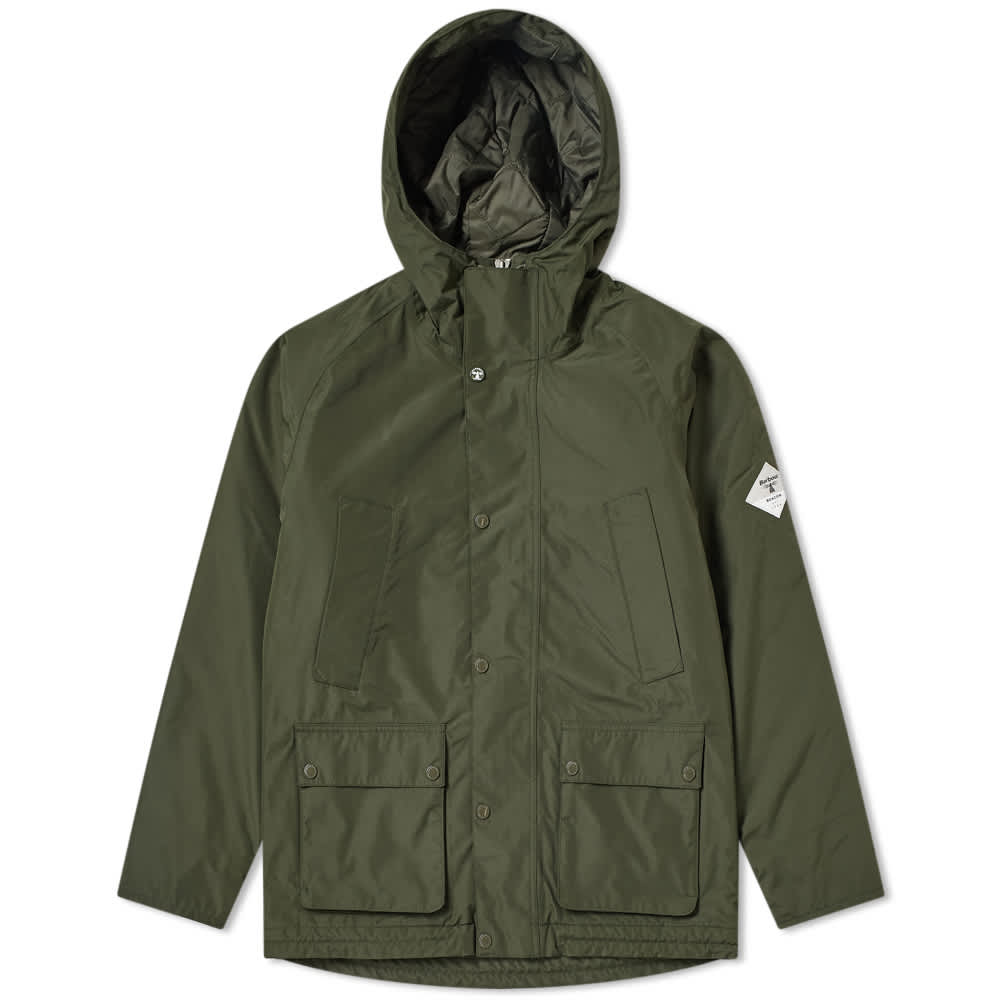 Barbour Beacon Hooded Bedale Jacket - Sage