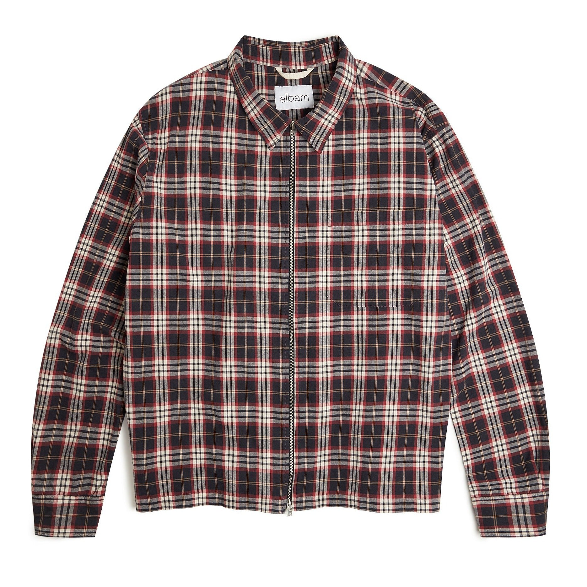 Albam Flannel Blake Jacket - Charcoal