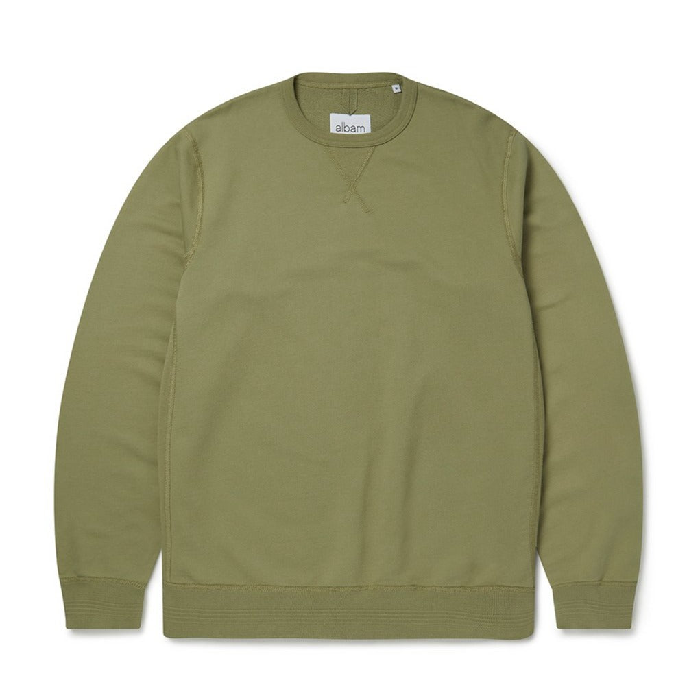 Albam Classic Sweat - Oil Green