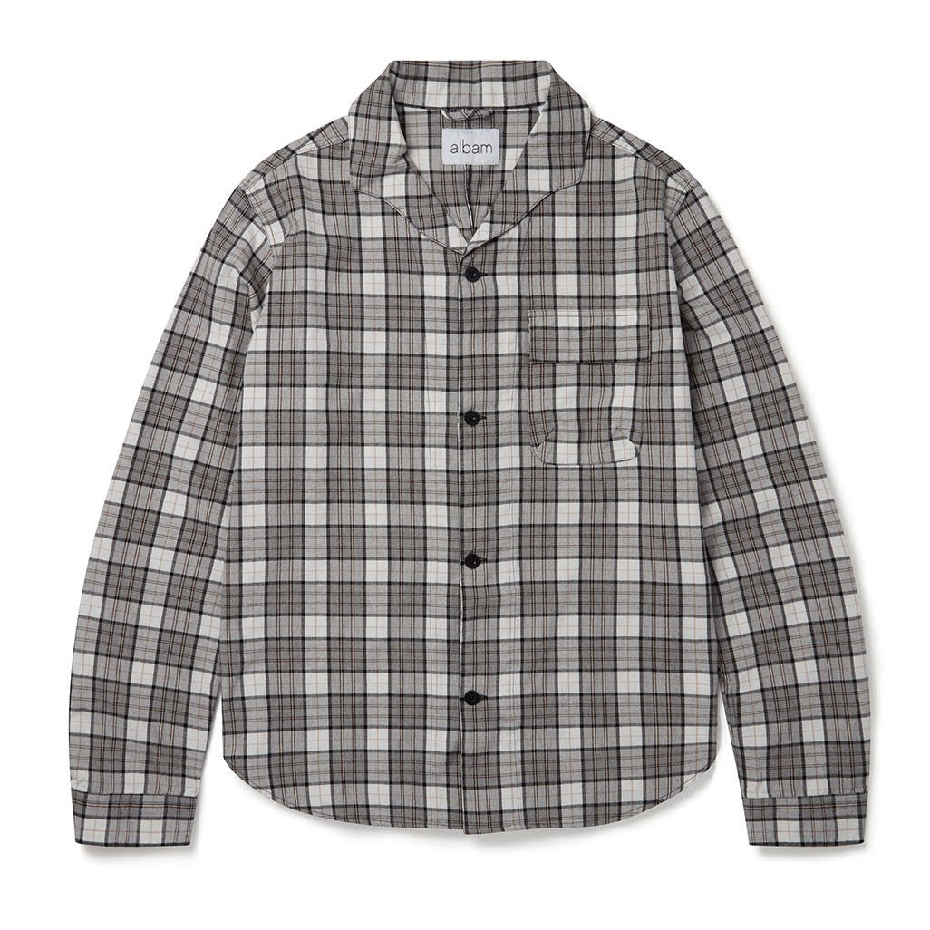 Albam Miles Shirt Grey Check