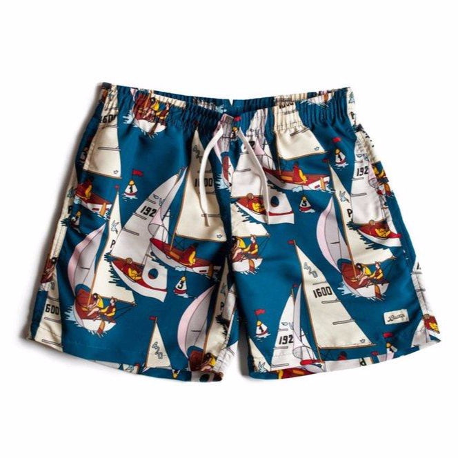 Bather Afternoon Sail Swim Trunk Blue