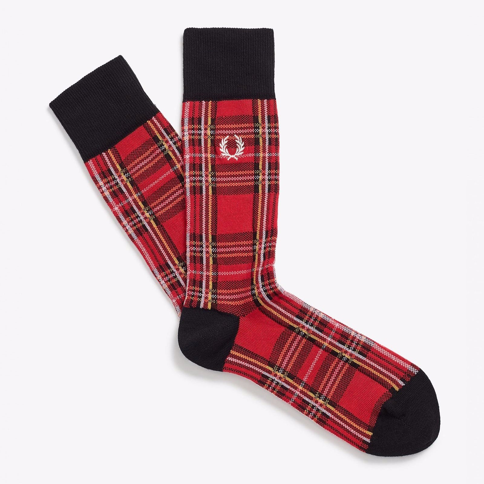 Fred Perry Royal Stewart Tartan Socks Red