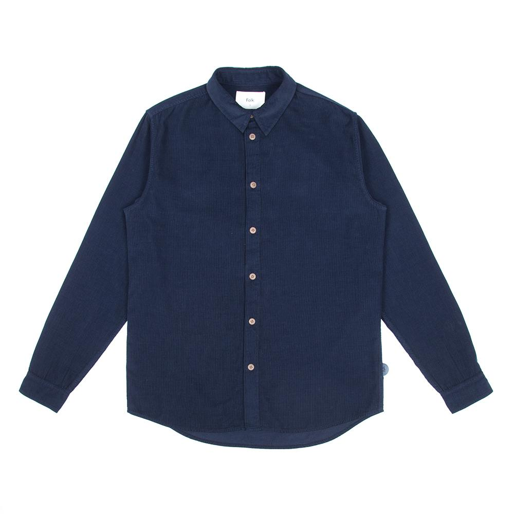 Folk Babycord Shirt Navy
