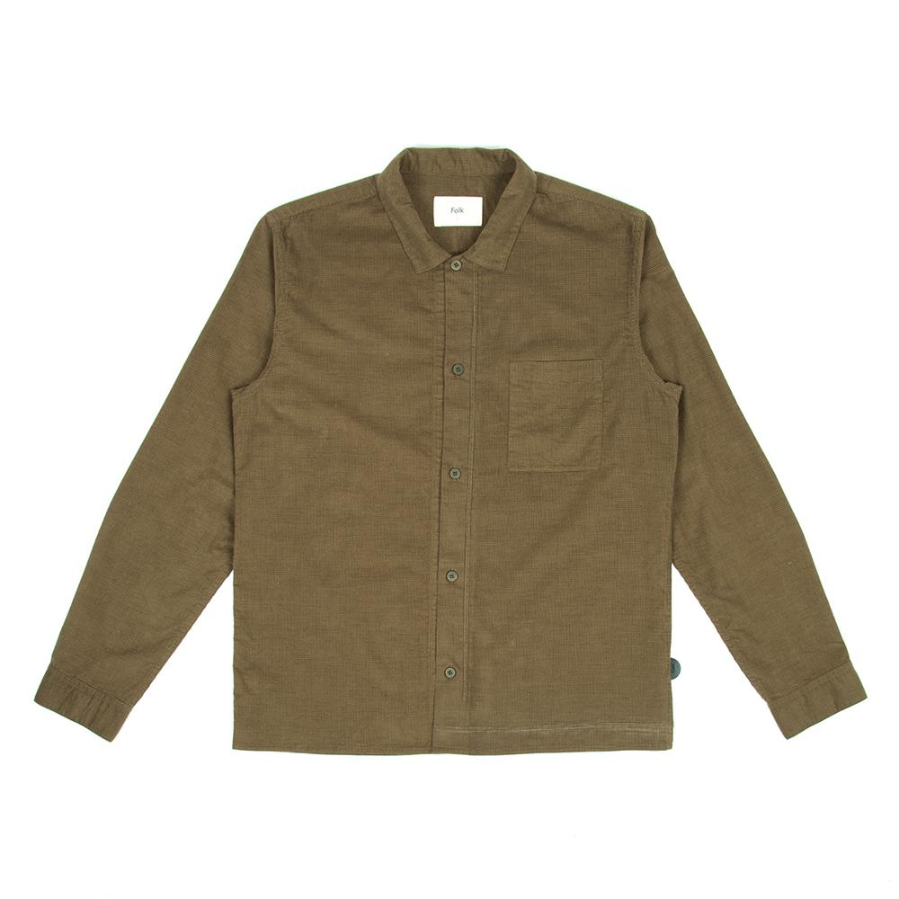 Folk Emboss Shirt Tobacco