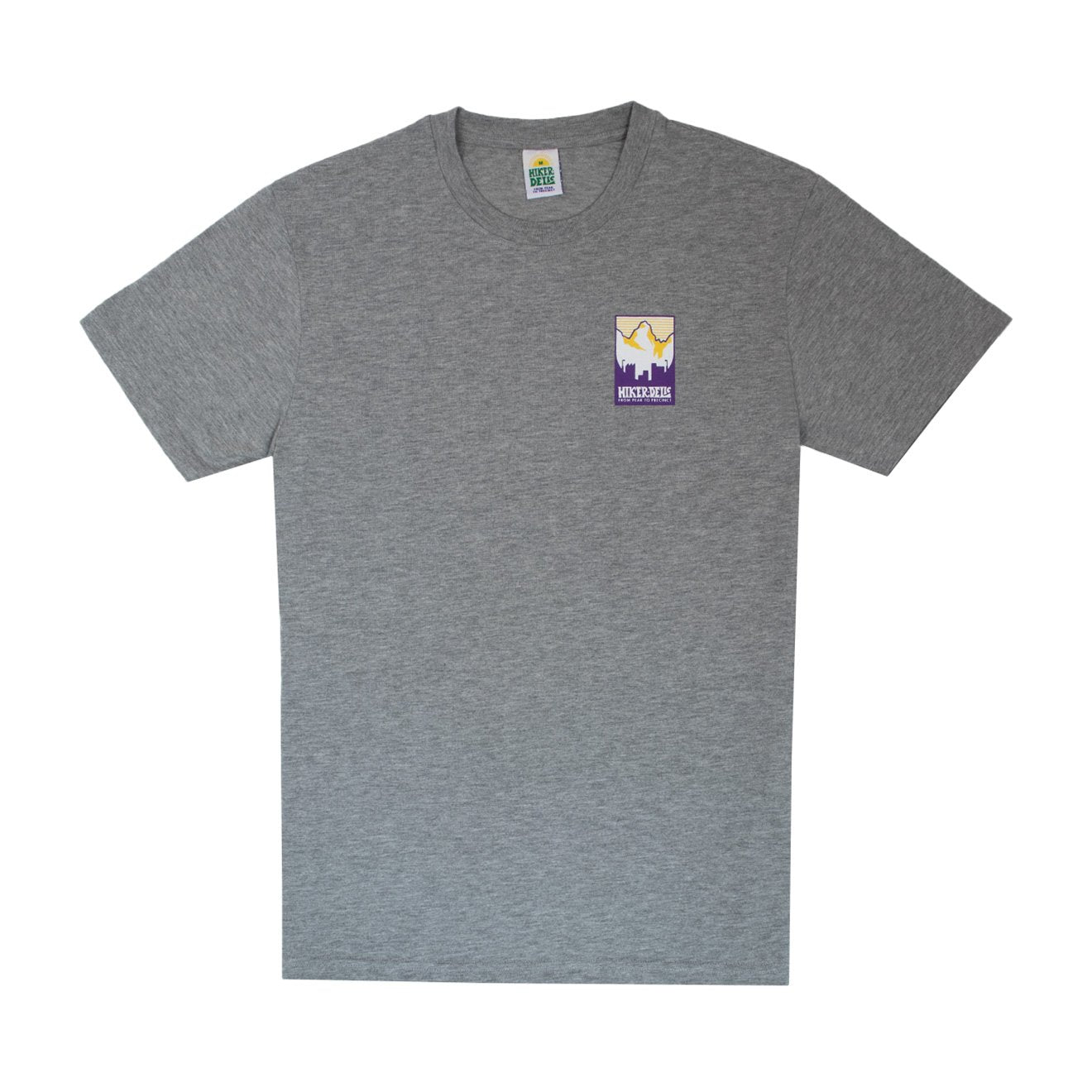 Hikerdelic Patch Print T-Shirt Grey Marl