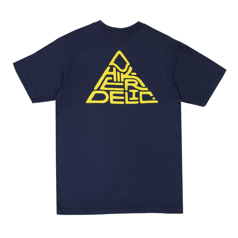 Hikerdelic Mountain Logo T-Shirt Navy / Yellow