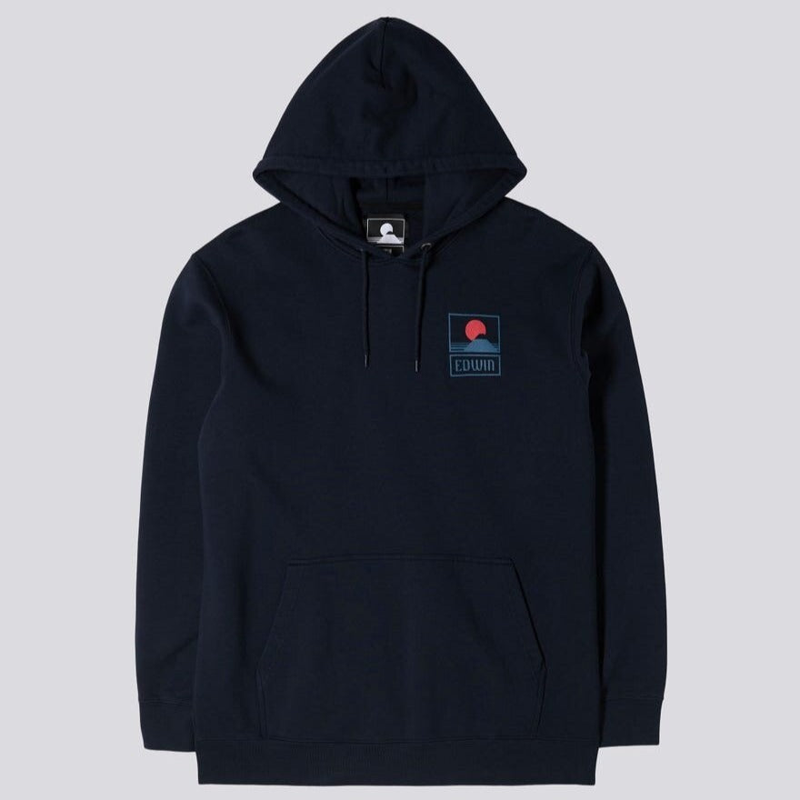 Edwin Sunset On Mt Fuji Hoodie Navy