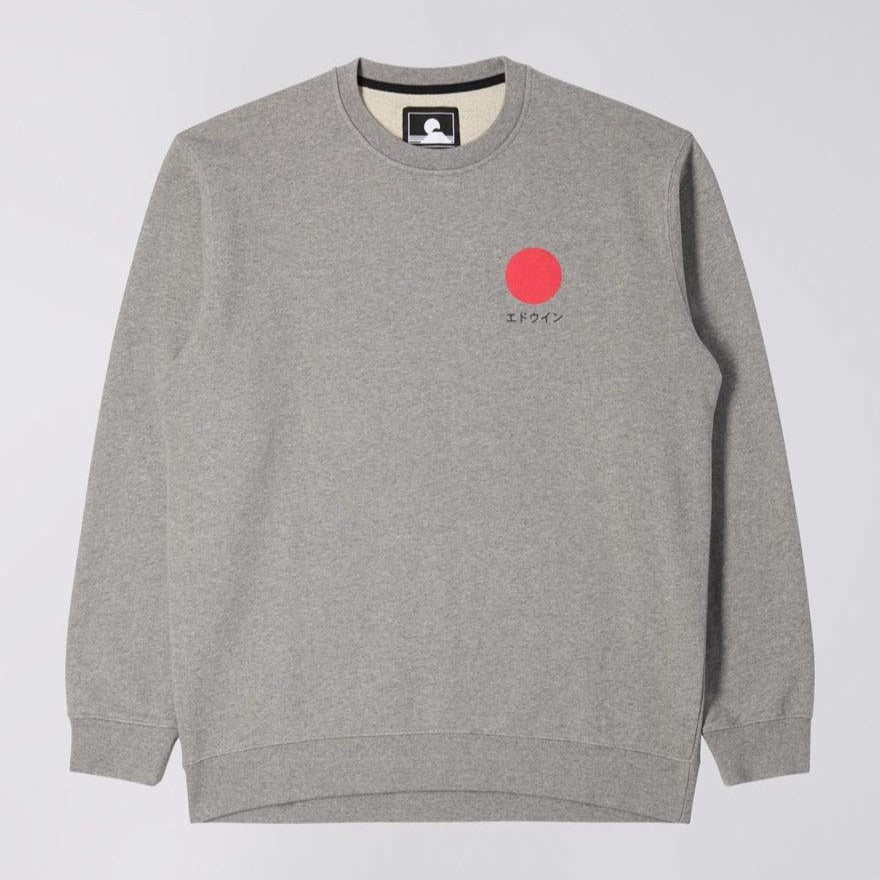 Edwin Japanese Sun Sweat Grey Marl