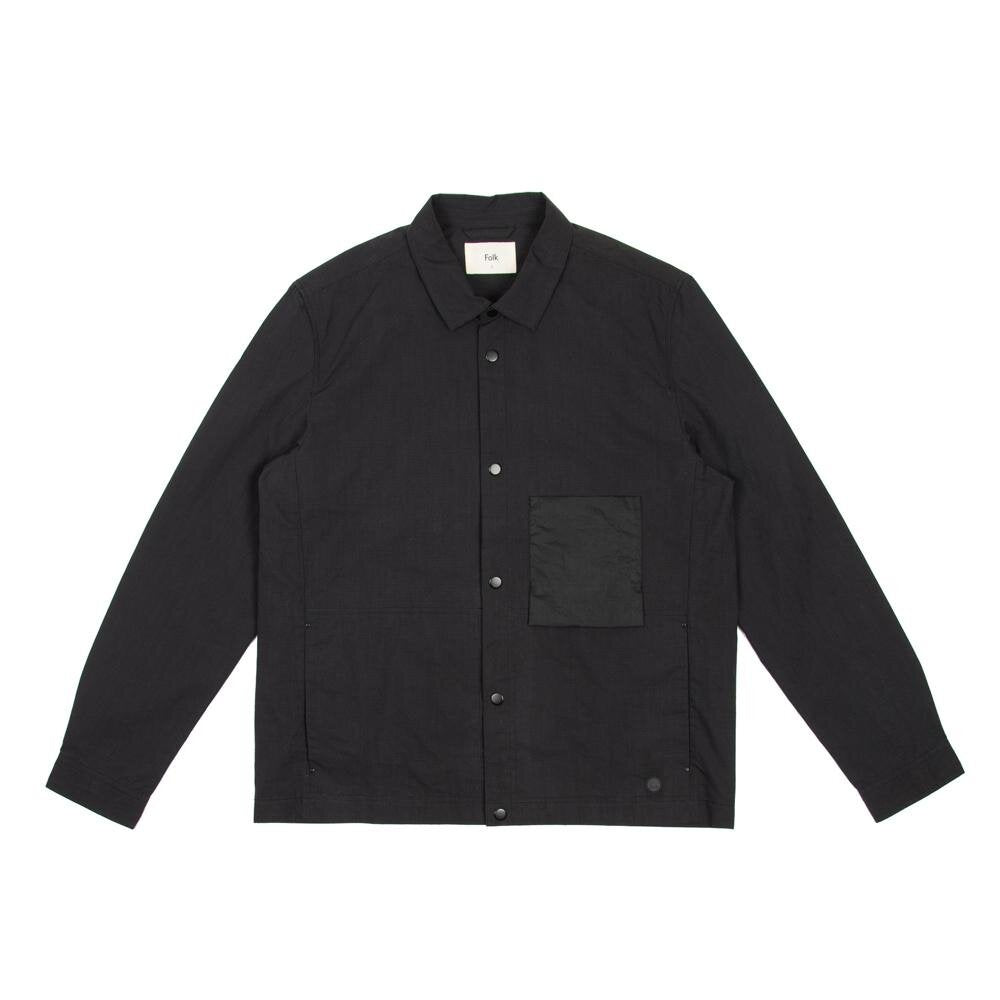Folk Stack Jacket Soft Black