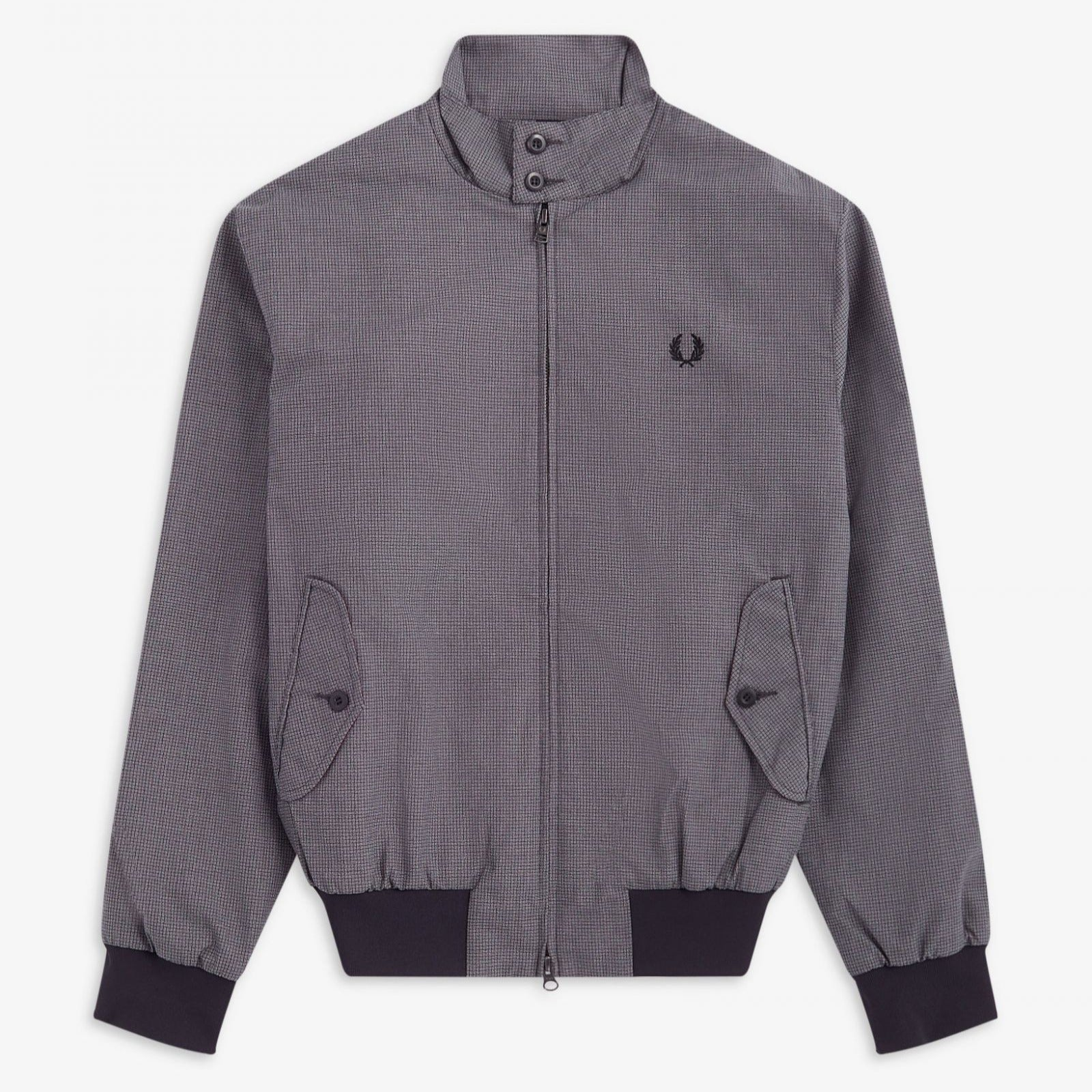 Fred Perry Jacquard Harrington Jacket Black