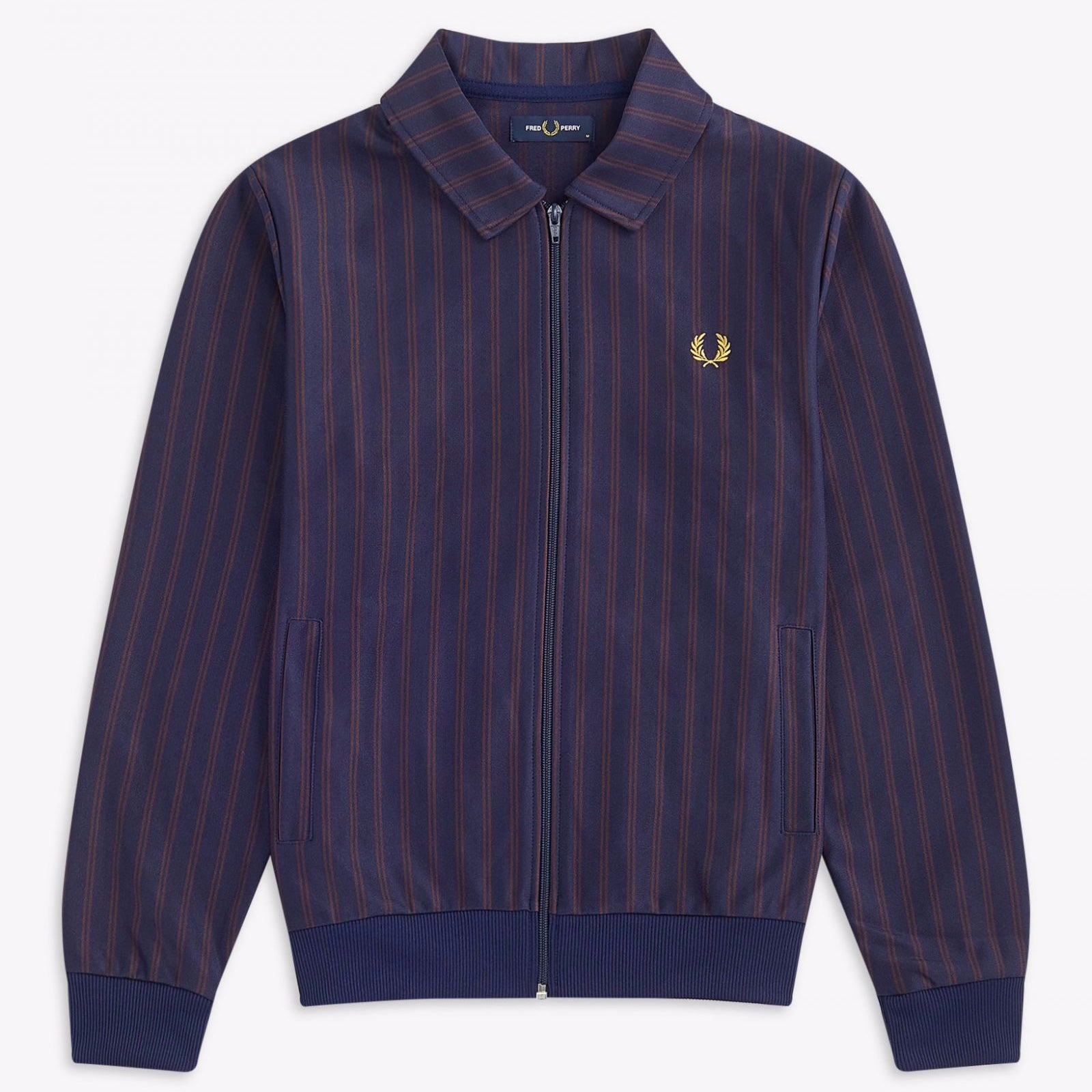 Fred Perry Striped Track Jacket Carbon Blue