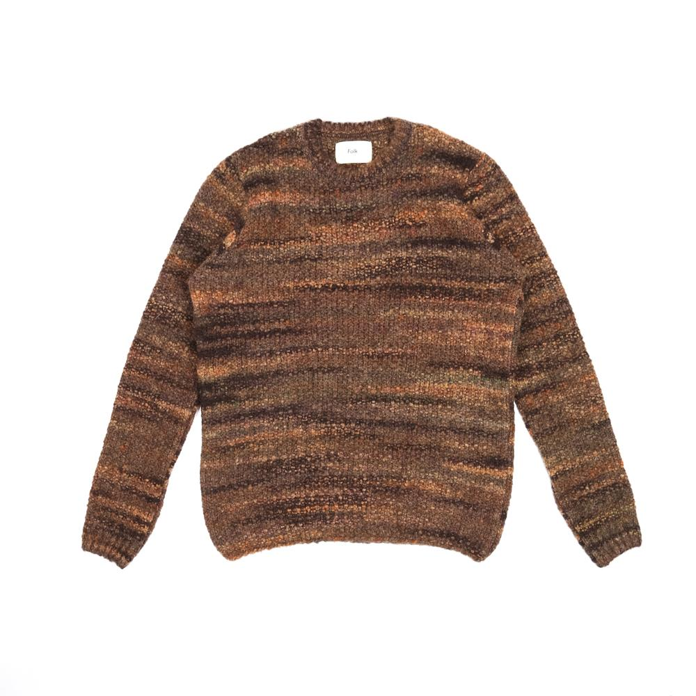 Folk Highlight Crew Mottled Brown