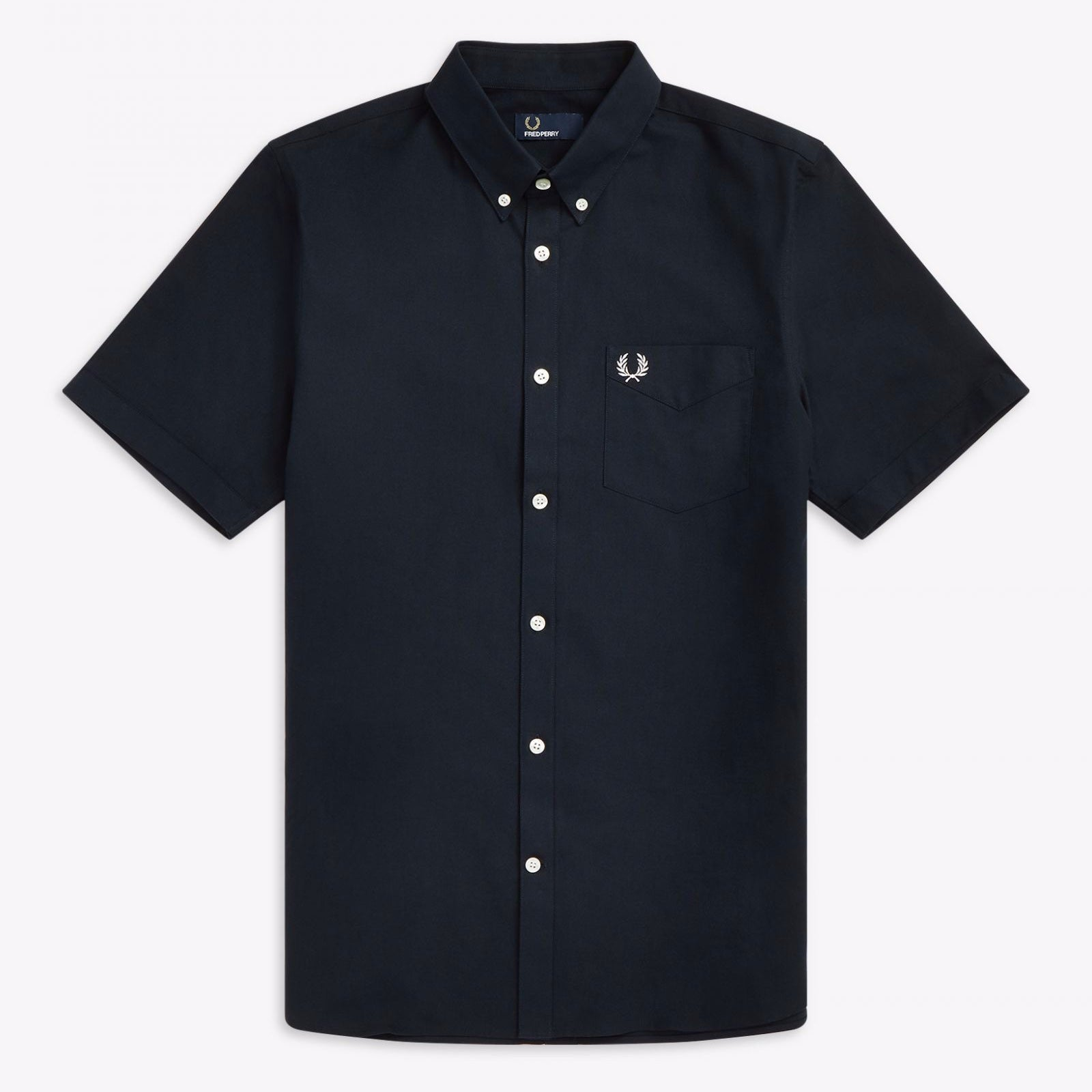 Fred Perry S/S Oxford Shirt Navy