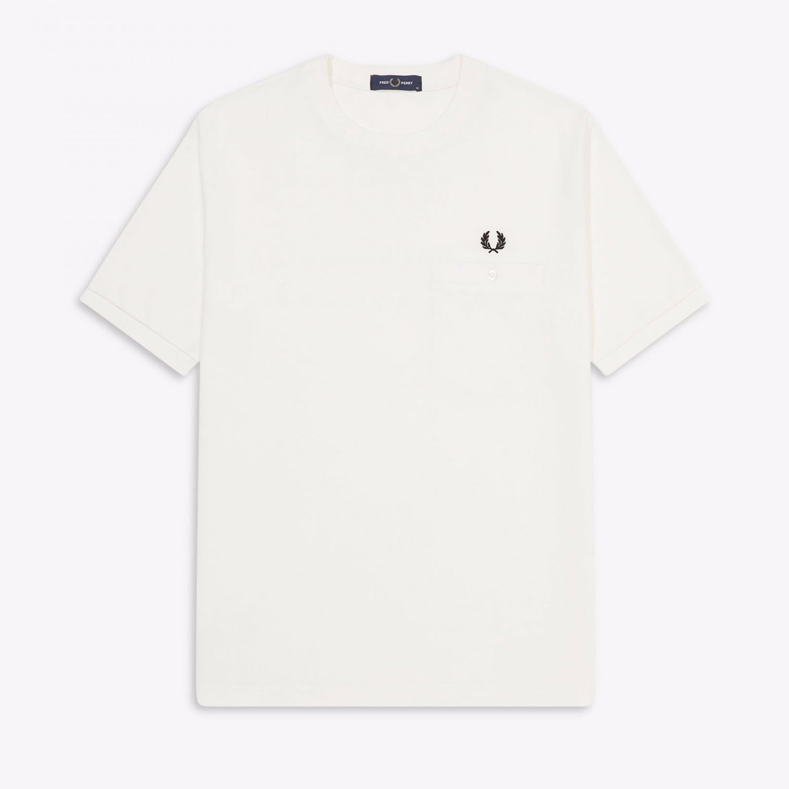 Fred Perry Pocket Detail Pique T-Shirt Snow White