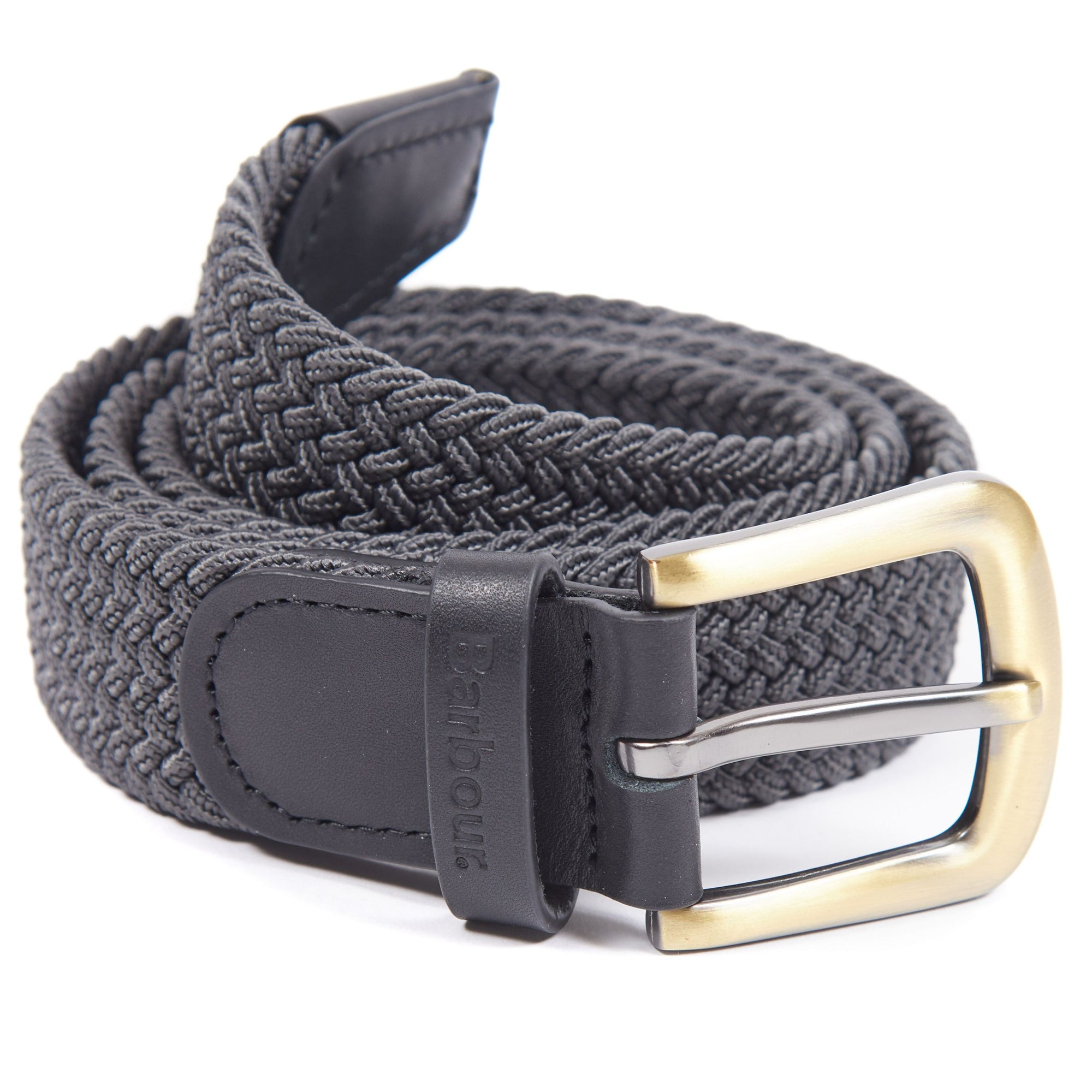 Barbour Stretch Web Belt Charcoal