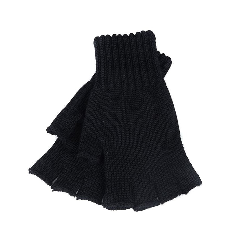 Barbour Fingerless Gloves - Black