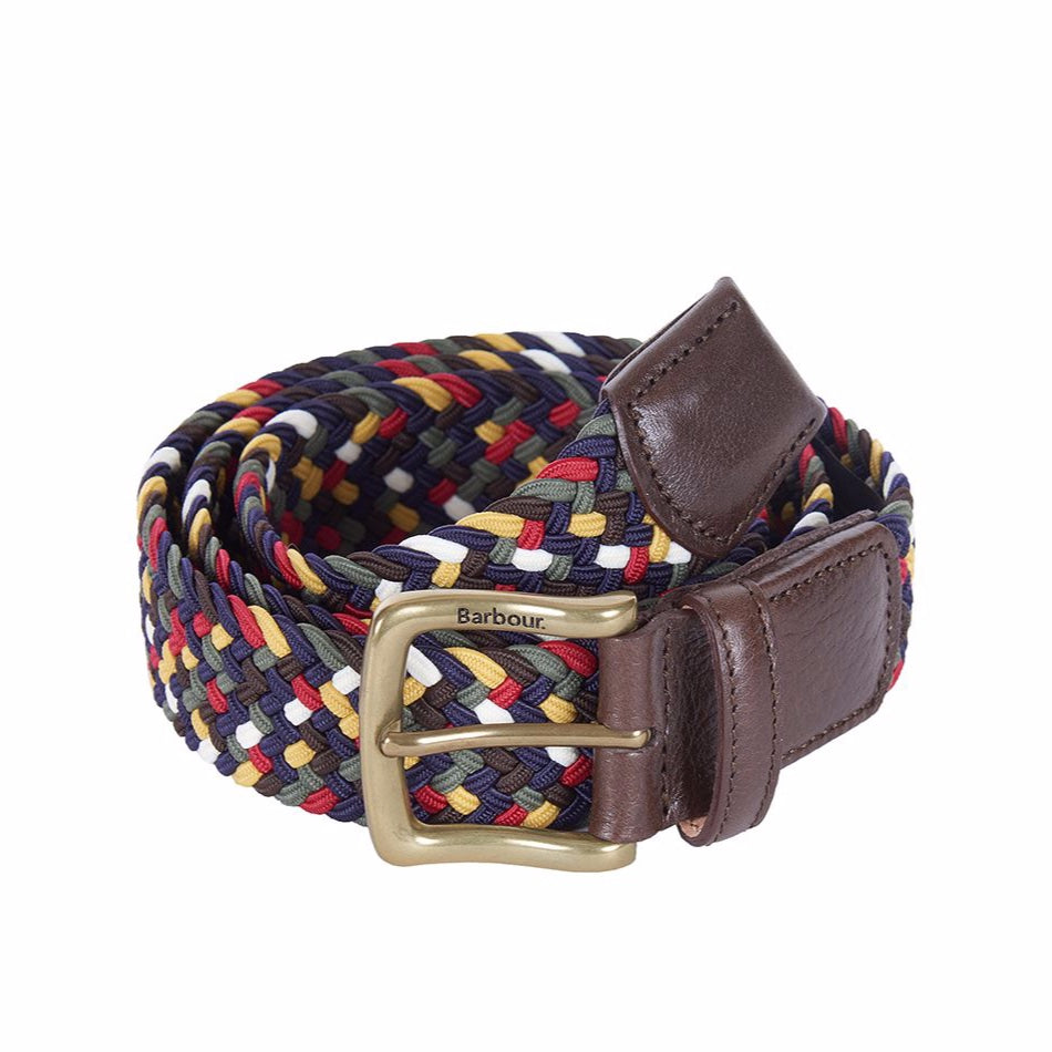 Barbour Tartan Coloured Stretch Belt Gift Box - Classic