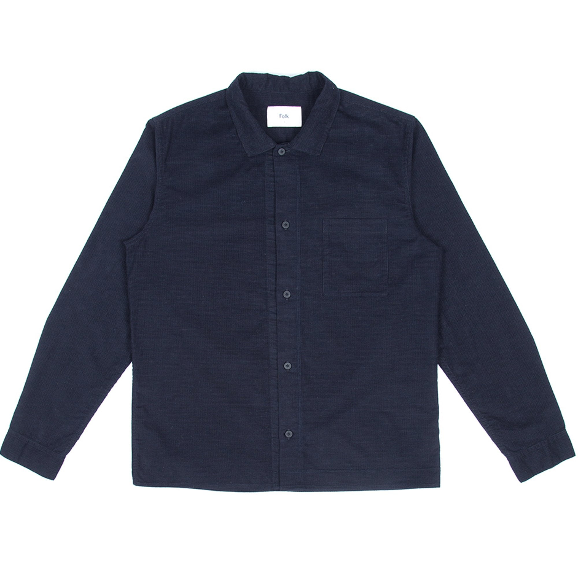 Folk Emboss Shirt Black