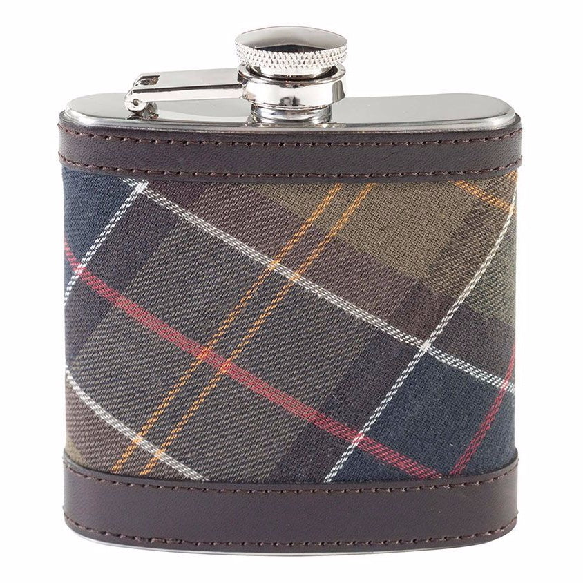 Barbour Hip Flask - Brown / Classic Check