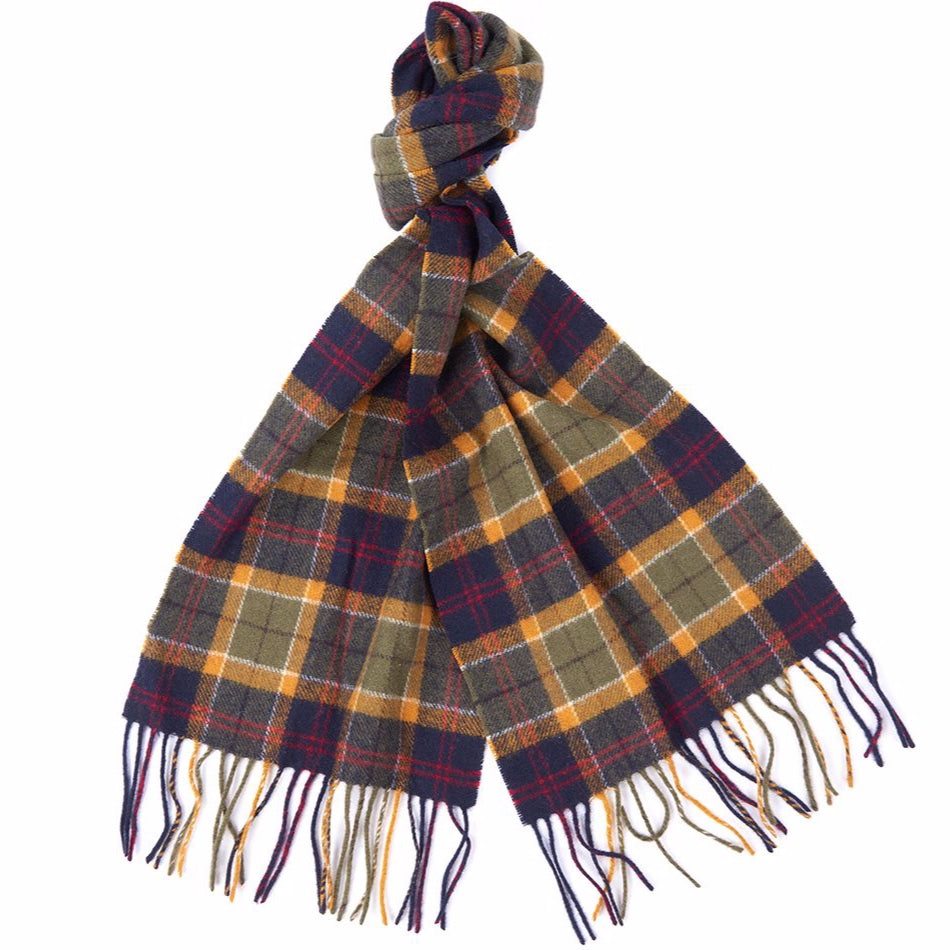 Barbour Tartan Lambswool Scarf - Green / Navy