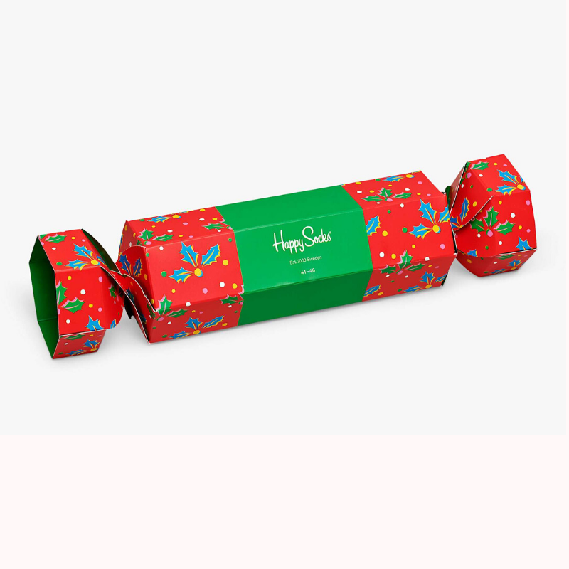 Happy Socks Christmas Cracker Gift Box Holly