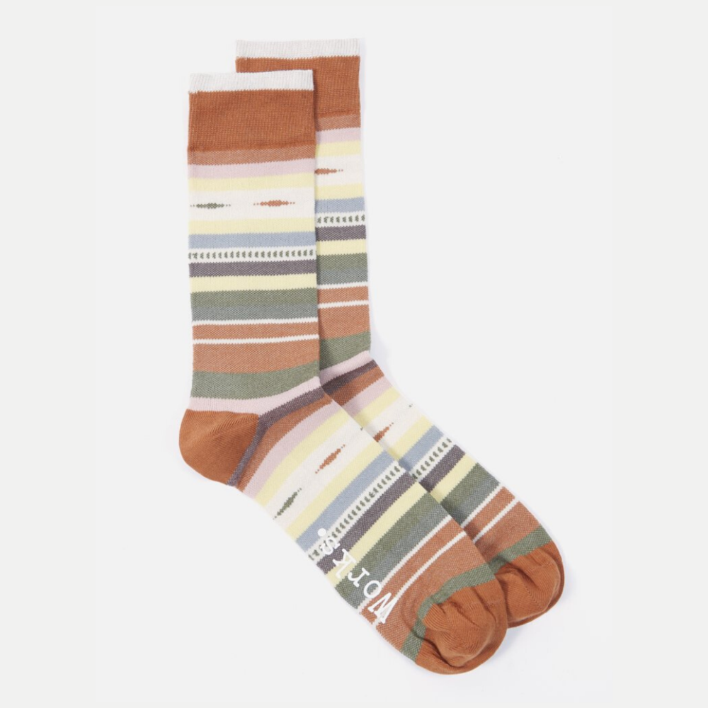 Universal Works Blanket Stripe Sock Multi